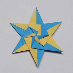Origami Hexagonal Star by Sam.Amalan Designer : Tomoko Fuse