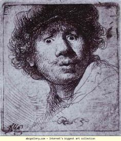 Rembrandt. Self-Portrait with Wide-Open  Eyes. Olga's Gallery.