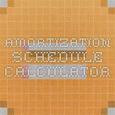 Amortization Schedule  Two Files   Month And  Month