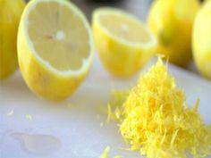 Benefício da casca de limão congelado