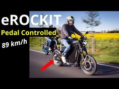 eROCKIT - The World's FIRST PEDAL CONTROLLED (Not Pedal Powered) electric motorcycle - YouTube