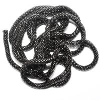 Metal Round Shape Black Color Chain