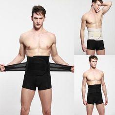 Men Health Vest Body Slimming Tummy Shaper shapewear Waist Fashion Men Belly Band Corset Waist Trainer Cincher Slim Body Shaper - PINkart.in