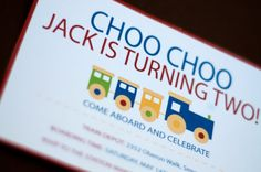 Choo Choo Birthday Invite