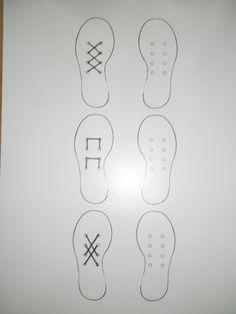 Visuele discriminatie: veter de andere schoen hetzelfde *liestr*