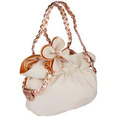 CANDICE Flower Soft Leatherette Metallic Weaved Double Handle Shoulder Bag Satchel Hobo Purse Handbag  Price: $29.50
