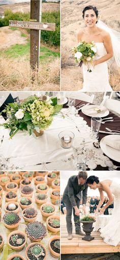 Pretty green wedding