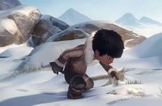 Tuurngait, l'adorable court-métrage avec un petit Inuit Film France, Film Anime, Movie Talk, Album Jeunesse, Film D'animation, French Films, Animation Film, Short Film, Culture