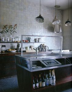 Kitchen wall of decorative tile | For the Home | Pinterest | Loft ...