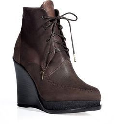 Rag Bone Bronze wedge booties Rag and Bone