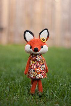 Madeline, Needle Felted Fox Doll