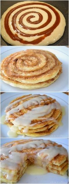 Breakfast For Champs | FooF Drink: Cinnamon Roll Pancakes | yummmmmmmmmmmmmy | I love cinnamon roll anything | spectacular recipe