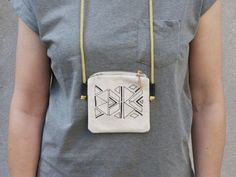 Screen-printed neck pouch by værsgo