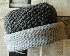 Downton Hat:  Inspired by a vintage baby hat (c.1915) and designed while watching the second series of Downton Abbey, free knitting pattern pdf.