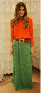 #viu como laranja combina com verde.. rs