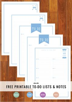 The Ultimate Free Printable Home Organizer To Do Lists & Notes