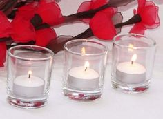 Red candles #wedding #decoration #ideas #redlove #candles
