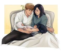 Newt and Tina with their child