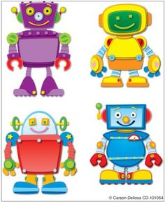 Amazon.com: Carson Dellosa Robots Temporary Tattoos (101054): Carson-Dellosa Publishing: Office Products