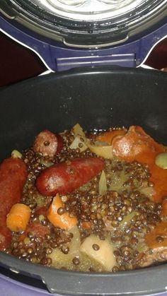 Pour réaliser des lentilles saucisses, il vous faudra utiliser la cuisson rapide pour environ 10 minutes.