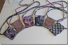 Little bags from old neckties I