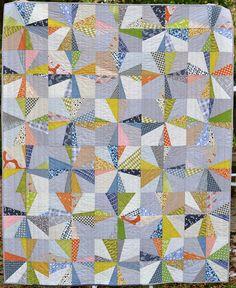 square burst quilt, via Flickr.