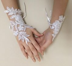 EXPRESS SHIPPING White lace gloves wedding bridal gloves lace | Etsy Bride Gloves, Wedding Gloves, Lace Gloves, Bridal Tiara, Bridal Lace, Bridal Headpieces, Wedding Lace, Lace Wedding Dress With Sleeves, Wedding Dresses With Flowers