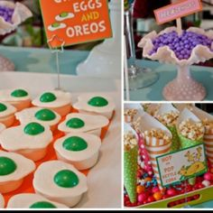 Dr Suess Green Eggs and Ham desserts