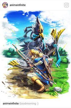 Link and Revali   Legend of Zelda Breath of the Wild