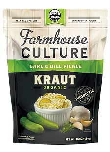 Better than the sauerkraut of yesteryear, Farmhouse Culture Kraut is organic, fresh and probiotic rich for enhanced gut health.
