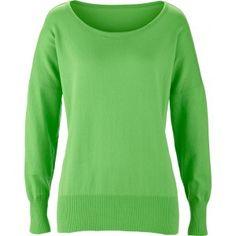 Ik vond dit op Beslist.nl: Dames trui (los model) lange mouw in groen - bpc bonprix collection