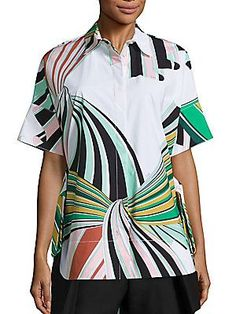 Emilio Pucci Printed Cotton Poplin Shirt