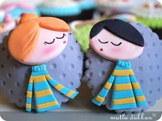 Couple cupcake