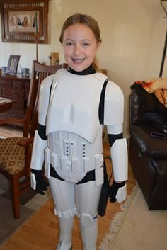 A girl who was bullied two years ago and given a custom made Storm Trooper outfit passes the costume on to another bullied little girl.