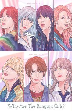 Fun Fact: BTS is like prettier than me Cute Wallpapers, Chibi, Bts Drawings, Anime, Fan Art
