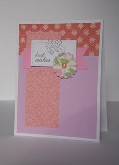 Handmade Best Wishes Birthday Card Simple Unique Pretty For Mother Sister Friend By APaperyGirl On Etsy