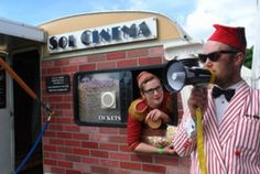 Sol Cinema - smallest movie theatre in the Solar system - World's smallest solar powered mobile movie theatre cinema Movie Theater, Theatre, Magic Plus, Small Movie, Gastro Pubs, Outdoor Cinema, Local Parks, Family Birthdays, New Forest