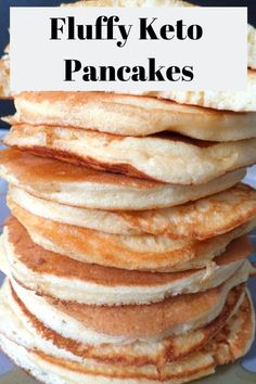 Keto Recipes For Chicken. How-To's To Get Your Keto Preparing Food. Almond Flour Pancakes, Low Carb Pancakes, Tasty Pancakes, Low Carb Breakfast, Breakfast Recipes, Cream Cheese Pancakes, Pancake Recipes, Vegan Breakfast, Ketogenic Recipes