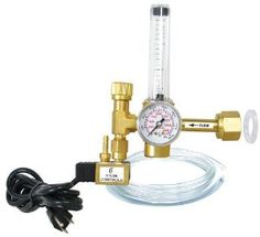 Titan Controls CO2 Regulator by Titan. $97.99. Precision accuracy flow meter allows precise release from .5 to 15 SCF/hour.. Brass construction for long-lasting dependability and durability, with a high quality oil-less pressure gauge.  3 Year Warranty.. CO2 helps increase overall plant growth and vigor.  This regulator makes it easy to apply CO2 from your tanks.. Powered by a 6' 120 volt grounded power cord, and includes 12' of CO2 dispensing line and 2 plastic tank was...
