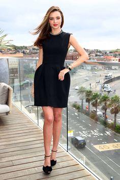 miranda kerr. Little Black Cocktail Dress - Best Little Black Dresses 2013 - Harper's BAZAAR