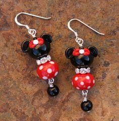 Minnie Mouse Style SRA Lampwork Disney Mickey Disney by chuckhljal, $35.00