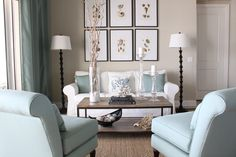 love the blue with the neutrals.