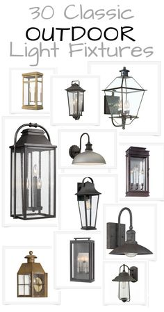 Front Porch Makeover + Outdoor Lighting Sources Classic+Modern+Rustic+Chic-Links to Outdoor Light fi Outdoor Post Light Fixtures, Porch Light Fixtures, Exterior Light Fixtures, Outdoor Post Lights, Modern Light Fixtures, Outdoor Sconces, Front Door Lighting, Garage Lighting, Porch Lighting