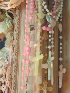 Pastel rosaries (from ...by Vicky)