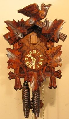 Sternreiter - German Hand Carved Cuckoo Clock with One-Day Movement 1200 by Sternreiter, http://www.amazon.com/dp/B001IUH71G/ref=cm_sw_r_pi_dp_1pxRrb1RFA6P3
