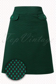 Wow to go! Stern Wow Skirt Green Black polkadot 123 49 11507 20140204 0001W