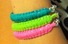 CHIC.CLASSY.CHEAP: DIY Tutorial: Cobra Stitch Lanyard (Gimp/Rexlace) Bracelet with Chain