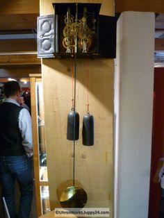 Burgunderuhr Comptoise Mechanik ohne Zifferblatt mit Schlag Faltpendel Inspiration, Grandfather Clocks, Desk Clock, Biblical Inspiration, Inspirational, Inhalation