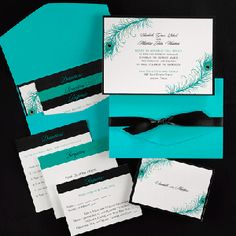 Liking this invitation but picturing the red instead of turquoise (PaperCuts Invitation Design)