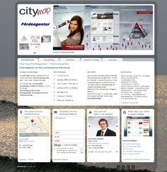 Web Visitenkarten Fördeagentur: city-map Fördeagentur